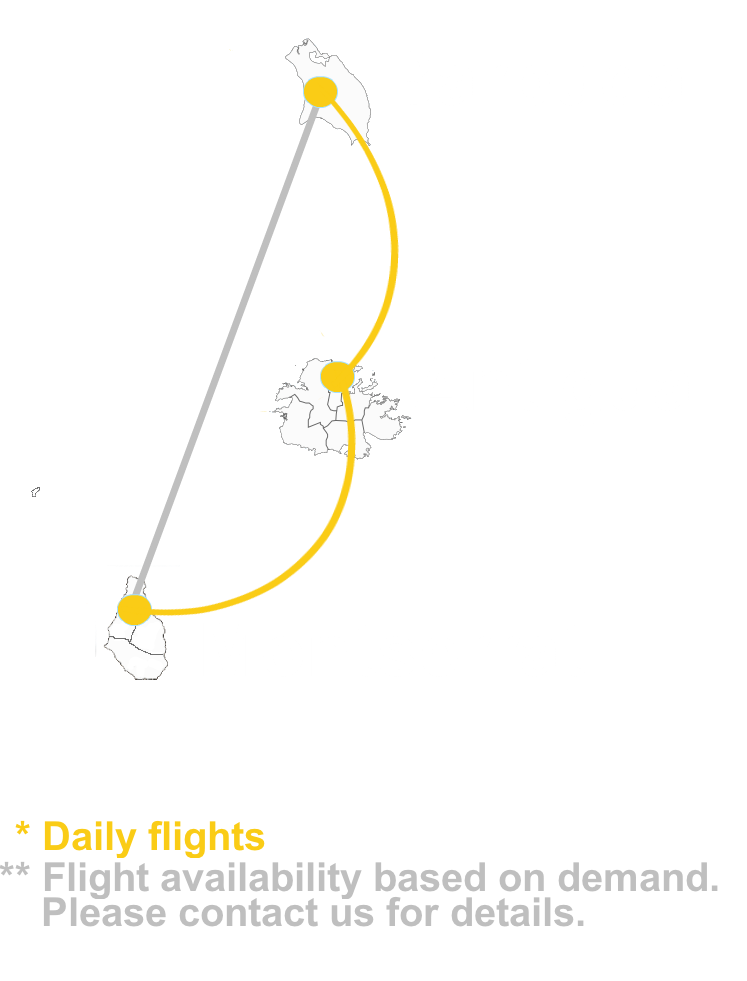ABM Air Barbuda Route Map